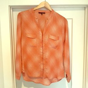 Peach dotted blouse